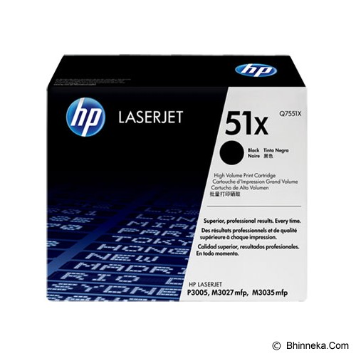 HP Black Toner 51X [Q7551X] - Toner Printer Hp